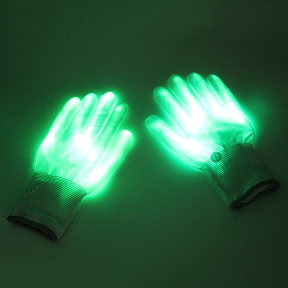 LED Gloves Neon Glowing Party Light