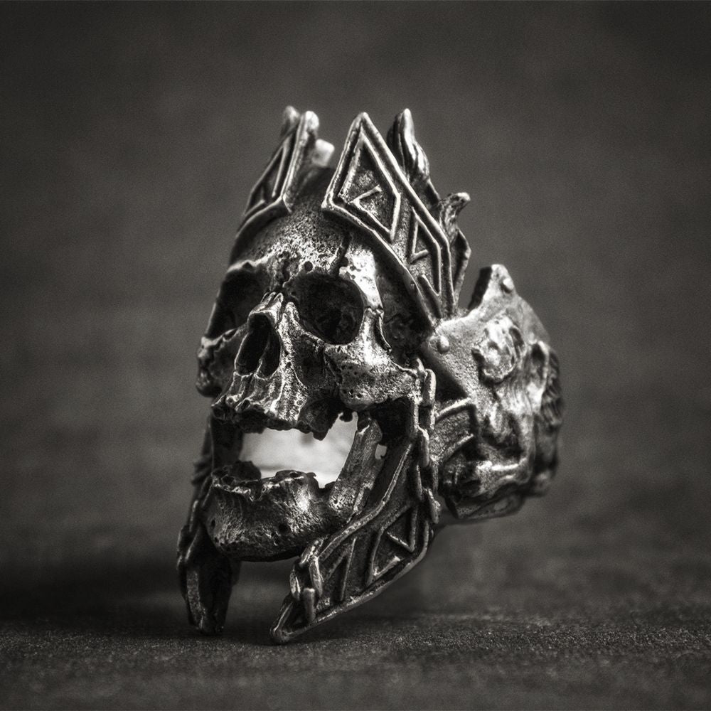 War Skull Punk Rock Warrior Ring