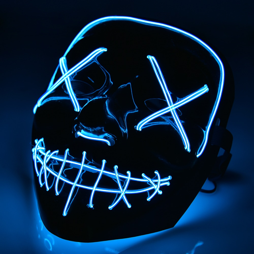 Dark Scary Party Skull Mask Light
