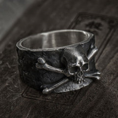 Crossbones Skull Stainless Steel Ring