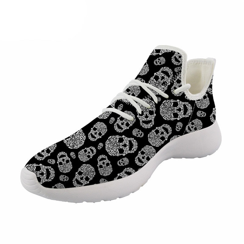 Skull Sneakers Comfortable Shoes