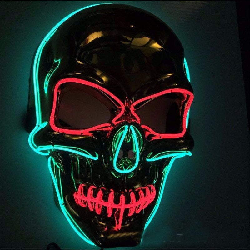 Skull-shaped LED Mask Light