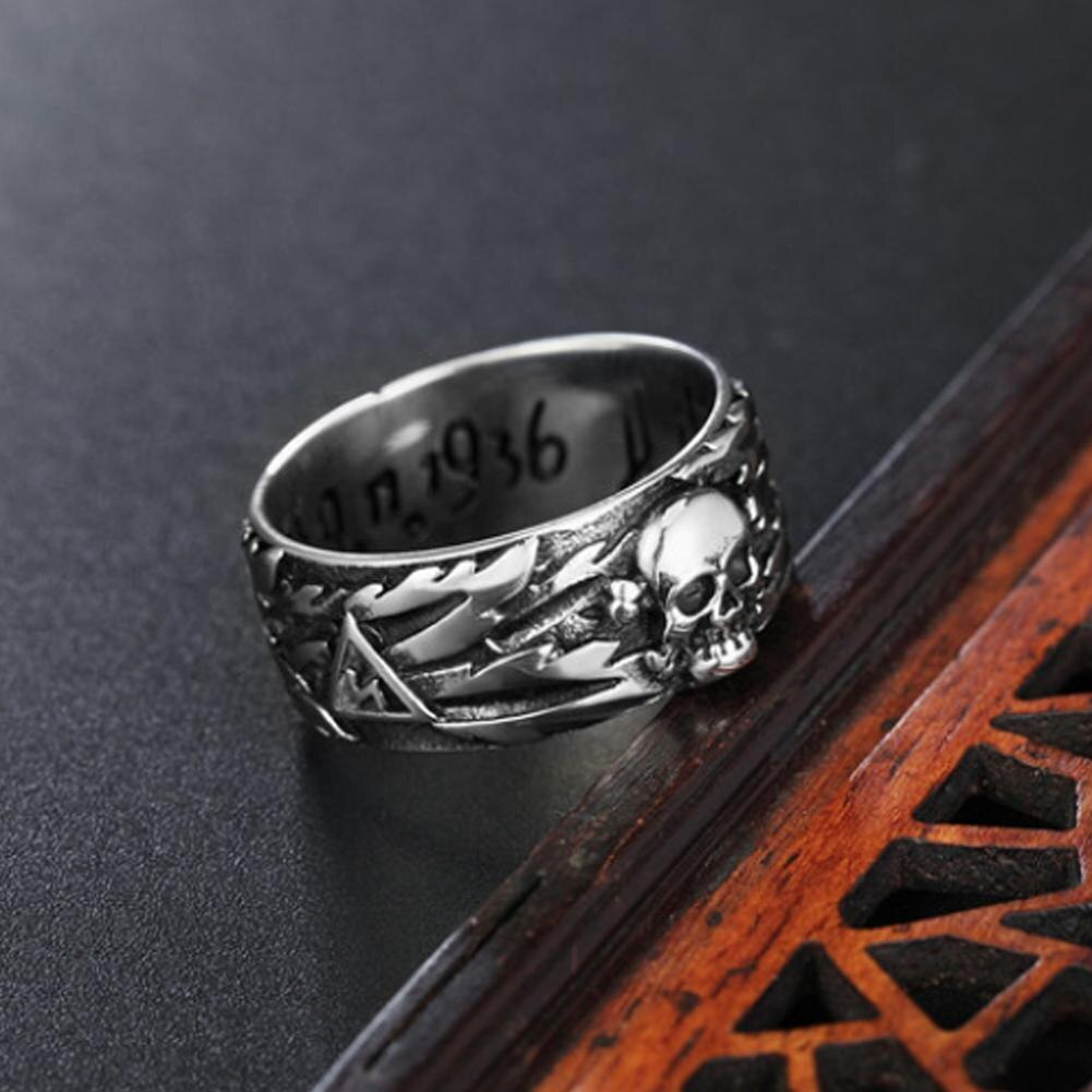 Domineering Devil Punk Skull Ring