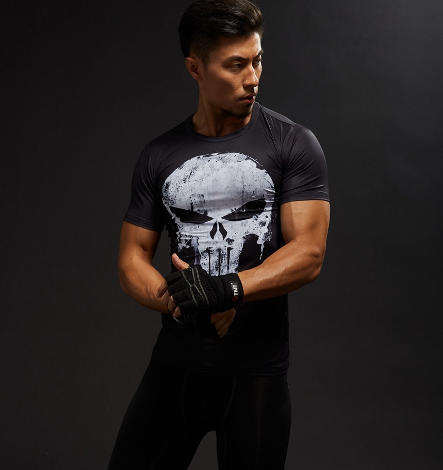 3D Printed Marvel Punisher Skull T-shirt