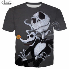 Pumpkin King Jack Skellington 3D Print Men Hoodies Skull Halloween Women Sweatshirt T Shirt Pullover Christmas Bride B152