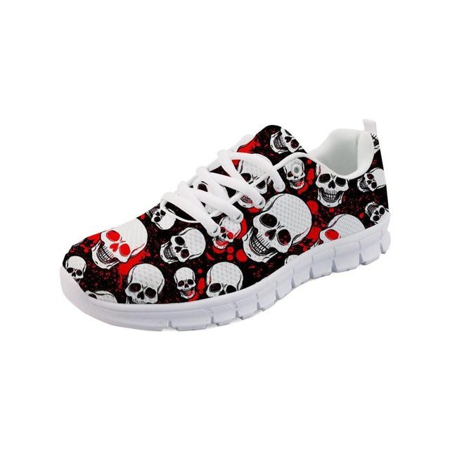 Classic Skull Print Vulcanized Shoes