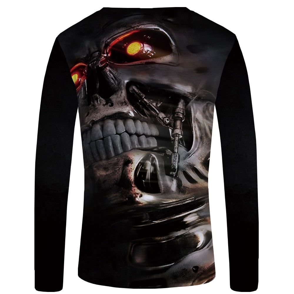 Skull Punk 3D Graphic Tshirt
