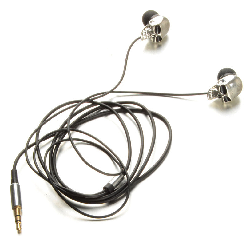 3.5mm Port Metal Skull Earphones