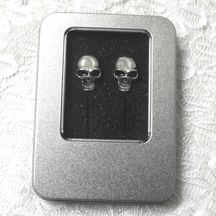 Cool Metal Skull Stereo Earphones