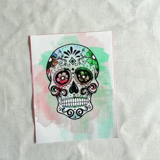 Sugar Skull Oil Painting Cotton Cloth