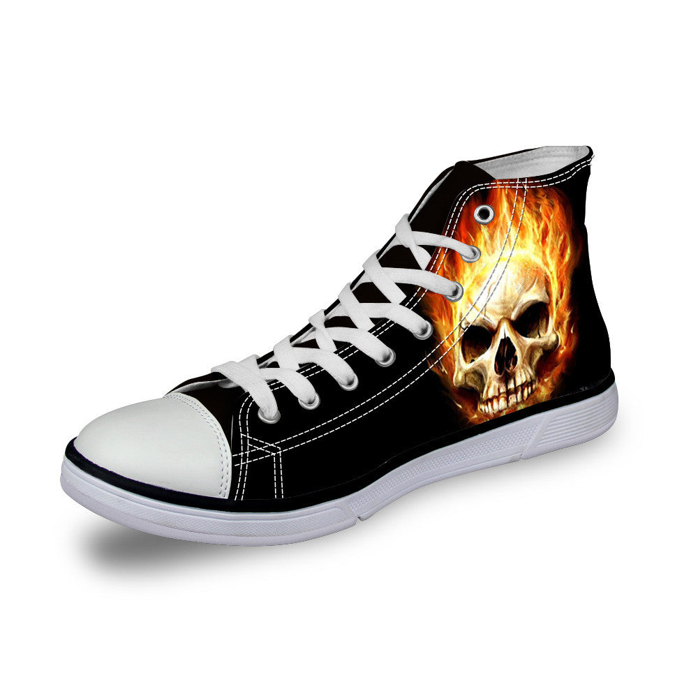 Customized Cartoon Skull Shoes