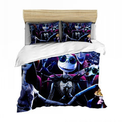 Soft Microfiber Duvet Cover Jack Skellington with Sunglasses Bedding Christmas Night Bedspread Pillowcase Single Double Bed Sets