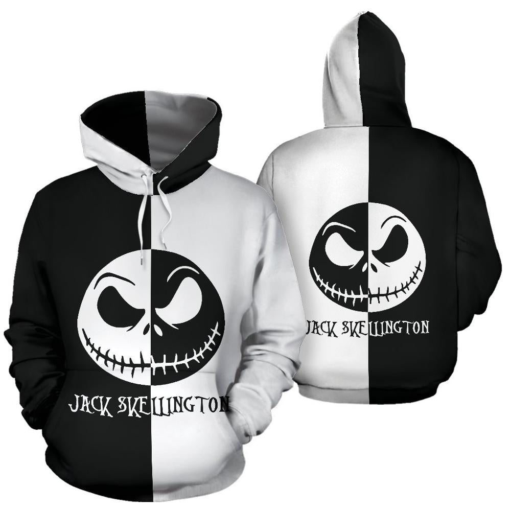 Men women Hoodies sweatshirts the nightmare before christmas jack Sally 3D print Hoodie harajuku Hooded Coat hip hop hoody tops