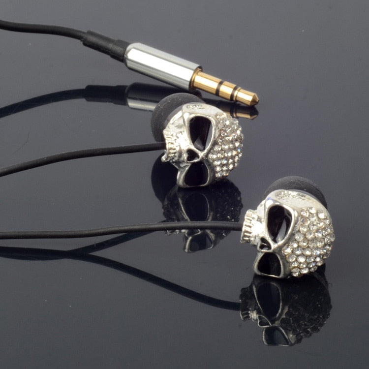 Metal Skull Earbuds Earphone