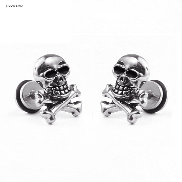 Punk Retro Skull Head  Earrings