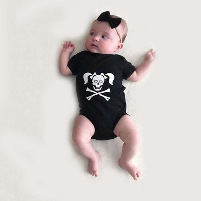 Stylish Toddler Skull Print Clothes