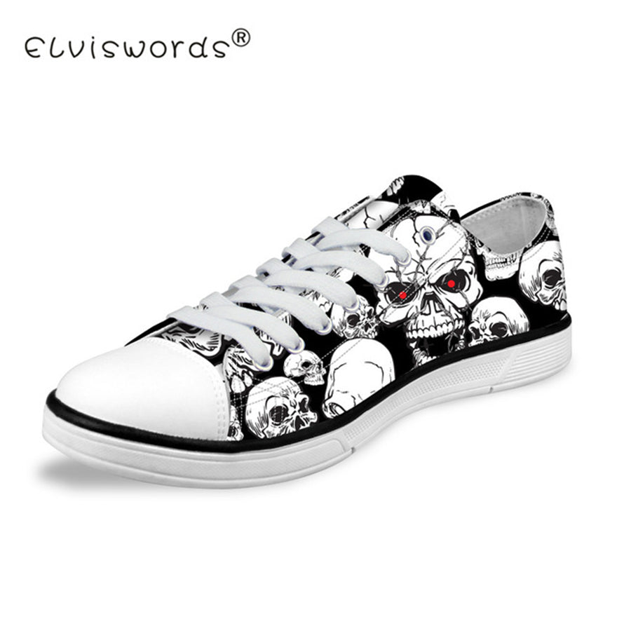 Skull Printing Men's Vulcanize Shoes