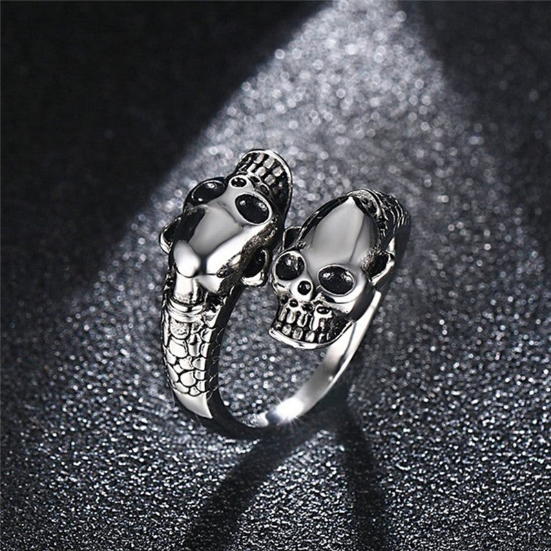 Adjustable Anillos Skull Ring