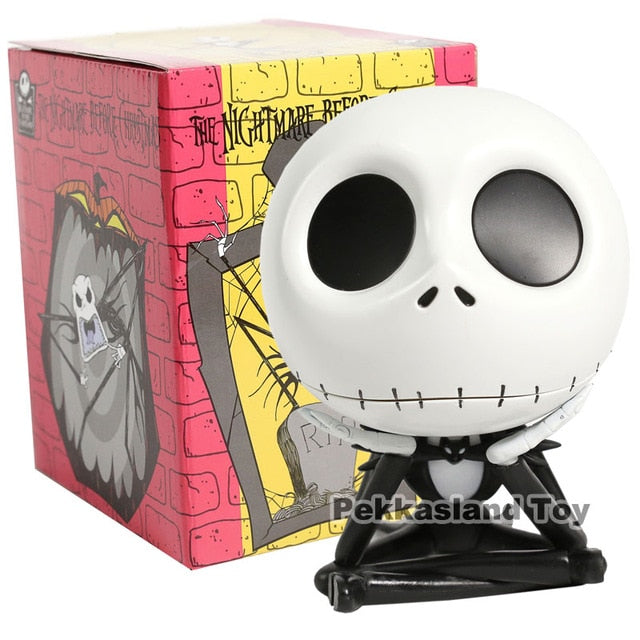 The Nightmare Before Christmas Jack Cute Jack Skellington Key Box PVC Action Figure Collectible Model Toy
