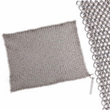 "Chainmail Dishcloth™ 8"" - Original Stainless Steel Pots & Pans Cleaner by Knapp Made"