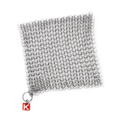 "CM Scrubber® 6"" - Original Stainless Steel Cast Iron Cleaner by Knapp Made"