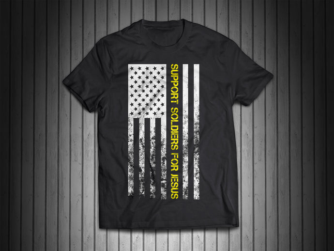 Support Soldiers For Jesus Flag Shirt