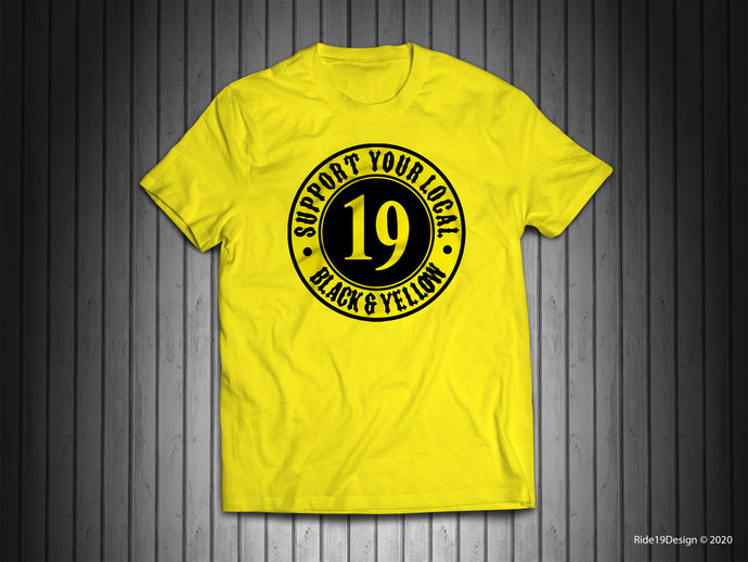 Support Your Local Black and Yellow, Yellow Support Shirt
