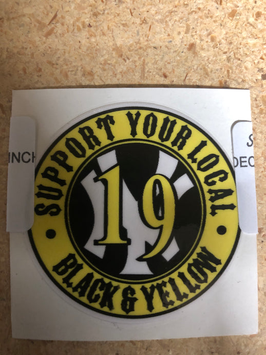 Cirlcle Support NY 19 Black and Yellow