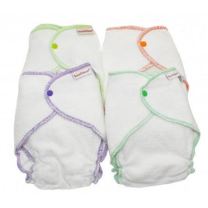 Organic Cotton Fitted Nappy 5+kg (4 PACK)