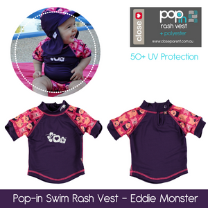 Pop-in Baby and Toddler Swim Rash Vest UPF50+ (Vintage Range)