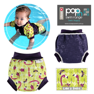 Pop-In Reusable Baby Swim Nappy (Vintage Range)