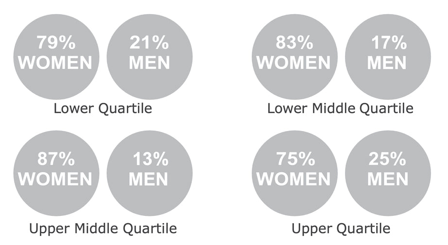 Quartile pecentages infographic