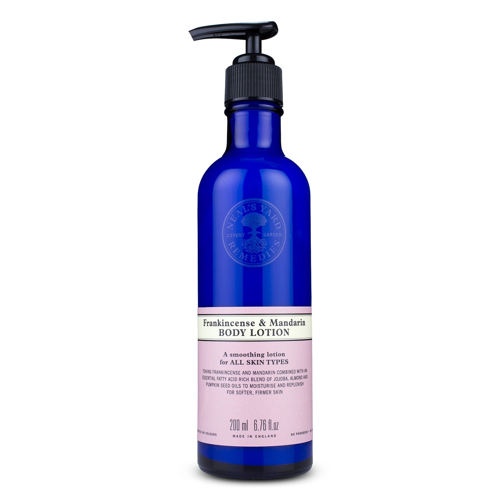 Frankincense and mandarin body lotion