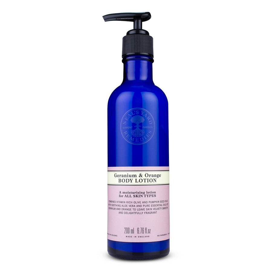 geranium and orange body lotion