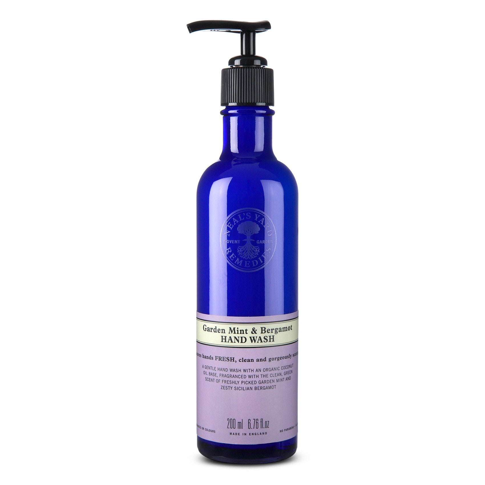 garden mint and bergamot hand wash
