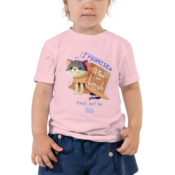 CAT IN A BOX COZY TODDLER TEE
