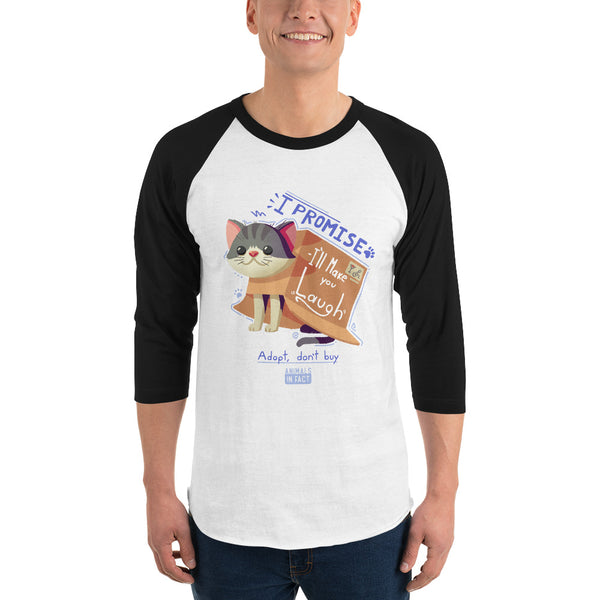CAT IN A BOX 3/4 SLEEVE SHIRT