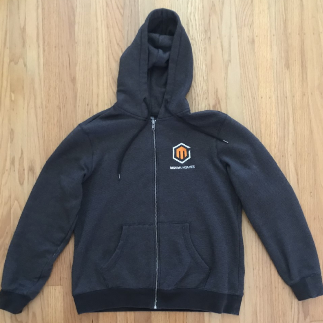 Maximum Games Full Zip Striped Hoodie