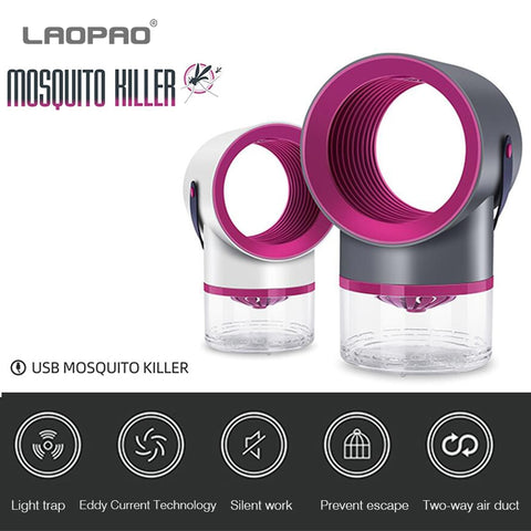 USB Electric Mosquito Killer Lamp Photocatalysis Mute Home LED Insect Trap - xtalbox