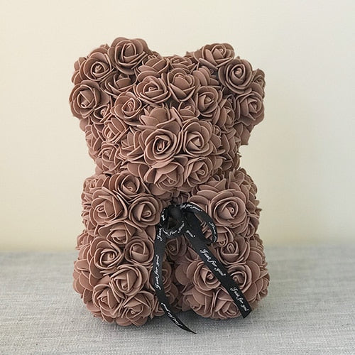 Handmade Teddy Bear Rose - xtalbox