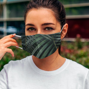 Printed Face Mask - Tropical Leaves Design
