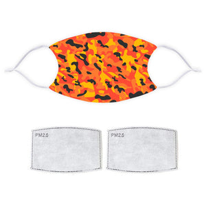 Printed Face Mask - Fire Fashion Camo Pattern Design