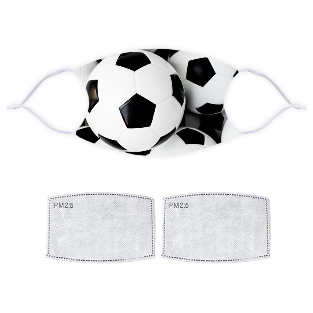 Printed Face Mask - Football Pattern Design