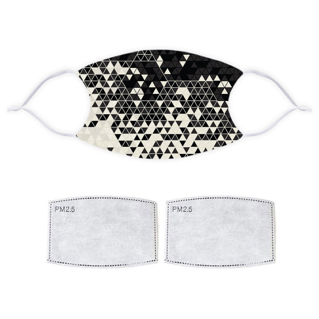 Printed Face Mask - Geometric Pattern Design