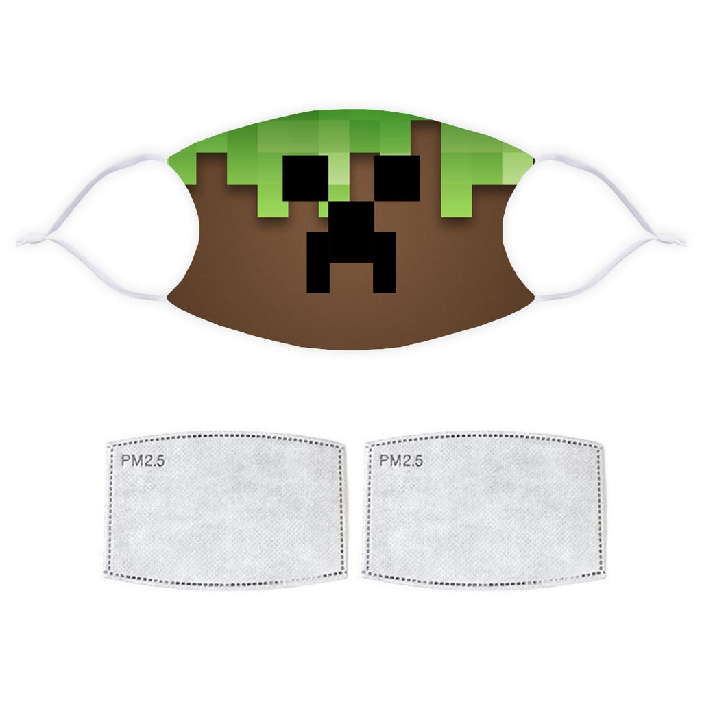 Printed Face Mask - Minecraft Style Design