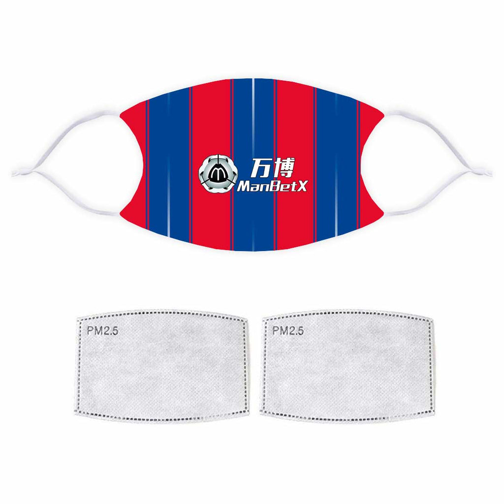Single Layer Printed Face Mask - Crystal Palace 2019 Home Kit Design
