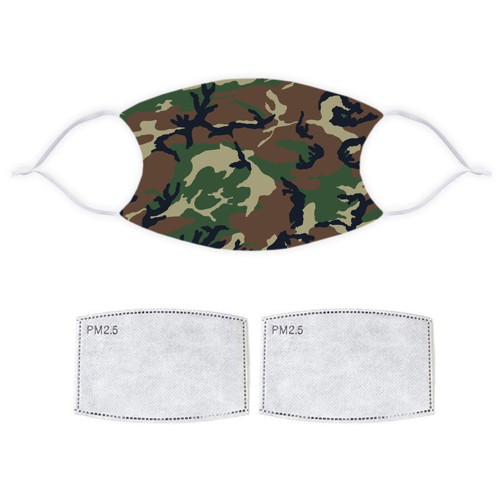 Printed Face Mask - Camo Pattern Design