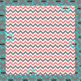 Chevron Coral-Gray