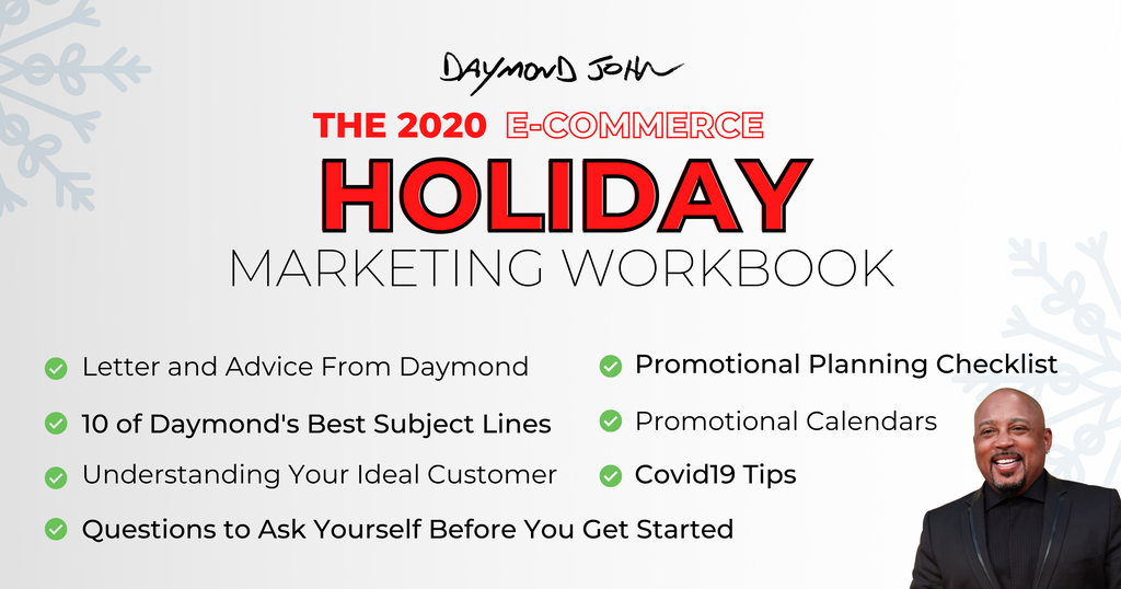 DAYMOND JOHN HOLIDAY MARKETING WORKBOOK GUIDE ONLINE BUSINESS ECOMMERCE