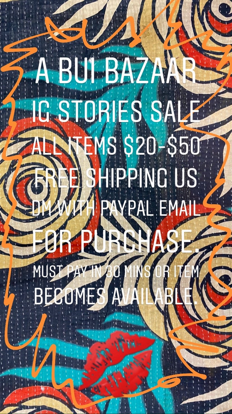 A BUI Bazaar IG Stories Sale